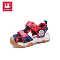 正品奥特曼品牌授权童鞋男童凉鞋2018新款韩版夏季中小童软底防滑儿童机能鞋子