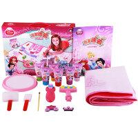Disney 迪士尼公主 我要涂鸦地垫套装 DS-1544 儿童绘画套装手指画 可水洗颜料 6色画垫地垫 当当自营