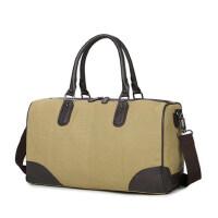 男士旅行包帆布手提单肩大容量短途行李包袋健身运动包休闲潮 支持礼品卡支付