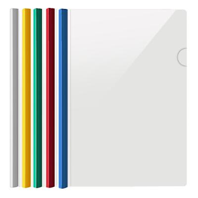 广博(GuangBo)5只装加宽加厚彩色A4抽杆文件夹 颜色随机WJ6331当当自营