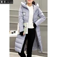 冬装新款时尚靓装羽绒服女中长款大码修身韩版连帽外套