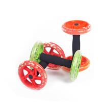 双轮单手健腹轮 商家用双轮单手滚轮超静音健腹器多功能四轮腹肌训练器健腹轮私教HW