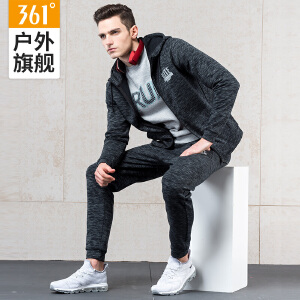 361度男子秋季运动套装冬季跑步装备男361度休闲运动服装