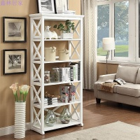 美式隔板置物架卧室实木书架客厅简易储物架多层落地收纳货物架子