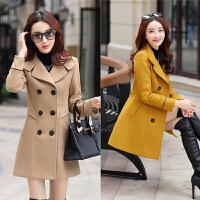 中年妇女冬季毛呢外套女装冬装妈妈装中长款韩版外衣服30-40-50岁
