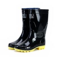 中筒雨鞋男士雨靴中高筒耐酸碱牛筋底劳保胶靴水鞋