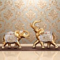欧式客厅大象摆件创意家居酒柜装饰品卧室房间办公室工艺摆设