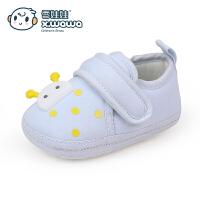 婴儿鞋0-6个月宝宝不掉鞋针织棉布软底学步鞋