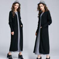 秋冬新款女超长款毛衣加厚羊绒开衫过膝针织衫中长款大衣宽松外套