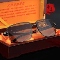 平光眼镜天然水晶眼镜石头养眼睛抗太阳镜护目老花镜男