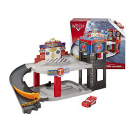 男孩礼物赛车总动员3玩具车活塞杯轨道套装停车库麦坤昆