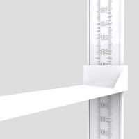 儿童量身高尺墙贴 身高测量仪器精准家用2米高精度可移除自粘 白色身高尺【配双面胶贴墙】 雕刻刻度加长挡板 特大