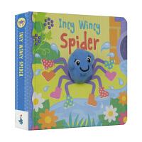 Incy Wincy Spider 小小蜘蛛 英语童谣指偶绘本 纸板互动游戏书 英文原版进口儿童图书