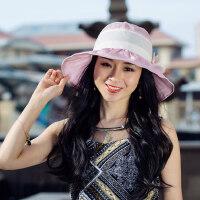 女士帽子时尚潮百搭韩版户外防晒遮阳可折叠凉帽太阳帽