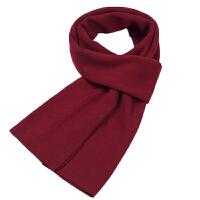 年会红围巾男女士冬季本命年中国红大红仿羊绒围巾定制LOGO刺绣