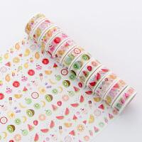 彩色手帐和纸胶带 手账相册DIY手绘彩色卡通可爱手帐纸胶带贴纸贴画10个装
