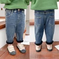 童装宝宝冬装牛仔裤新款儿童加绒休闲裤男童洋气保暖裤