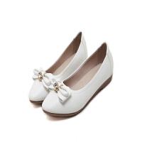 春夏季新款平跟鞋 水钻立体蝴蝶结扣饰平底鞋 简约百搭女单鞋