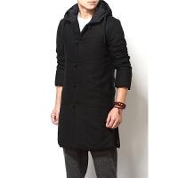 大码男装中国风复古锦缎中长款加肥加大棉衣外套冬季 XX