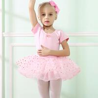 儿童芭蕾舞裙蓬蓬裙女童舞蹈服装演出服表演服短袖练功服春秋新款