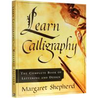 正版 英语字贴 英文原版 Learn Calligraphy 英文书法字贴 手写印刷体意大利罗马斜衡水圆体 英文版进口