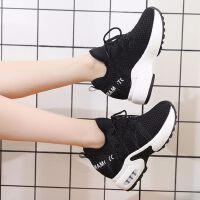 女鞋子户外时尚运动休闲韩版百搭单鞋厚底内增高小白鞋