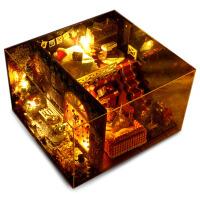 diy小屋手工制作小房子拼装模型别墅建筑创意圣诞节生日礼物女生