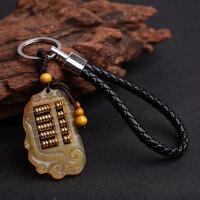 黄金万两羊角算盘钥匙扣创意手工汽车钥匙链挂件男女士钥匙圈饰品