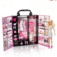 【支持*】芭比娃娃梦幻衣橱套装闪亮度假屋礼盒女孩公主玩具生日礼物v8e