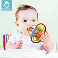 早教婴儿玩具手抓球牙胶摇铃0-3-6-12个月宝宝磨牙棒