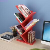 创意桌上树形小书架简易置物架小型办公收纳架床头柜上储物架