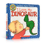 I Love My Dinosaur我爱恐龙 幼儿启蒙认知绘本 亲子睡前阅读 触摸书