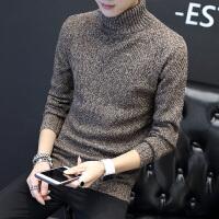 男士高领毛衣男冬季韩版潮流针织衫学生套头打底衫修身毛线衣秋衣 M123咖啡色 M