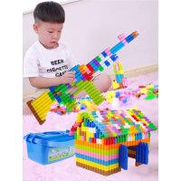 儿童塑料拼插子弹头积木4-6岁幼儿宝宝益智拼装男孩玩具1-2-3周岁