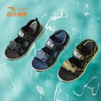 安踏童鞋男童凉鞋2019新款夏季男童中大童防滑沙滩鞋儿童凉鞋男