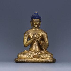 清代 铜鎏金释迦牟尼佛坐像