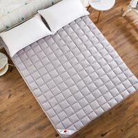 家纺折叠睡垫1.8m1.5米单双人学生宿舍榻榻米床垫被床褥子1.2床笠 灰色 0.9x2m(3.3英尺)床