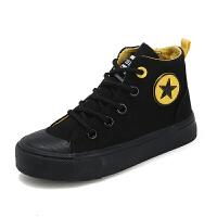 �和�帆布鞋高�痛呵锛九�童鞋子男童板鞋