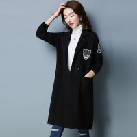 毛衣外套女秋冬新款韩版中长款针织开衫大码长袖毛呢大衣厚