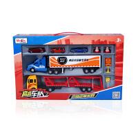 合金汽车模型玩具运输车货柜车儿童玩具套装仿真车男孩礼物