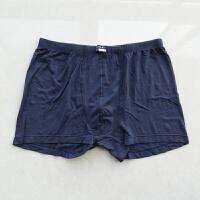 裤衩竹棉莫代尔平角裤纯棉内裤深蓝色男士军内裤 1号 94-98CM