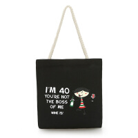 单肩帆布包女文艺简约布袋子休闲手提包购物袋文艺学生书包包