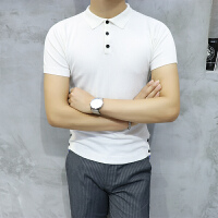 Polo衫男士简约短袖T恤翻领冰体恤衫薄款半袖针织衫