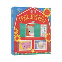英国原版 Busy Bees启蒙系列 Farm Peek and Find农场躲猫猫农场动物低幼早教英文进口 儿童英语