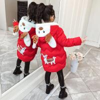 秋冬季女童装外套中长款棉袄