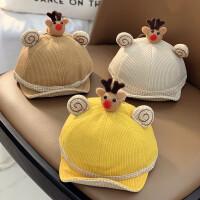 儿童帽子秋冬季婴幼儿鸭舌帽可爱萌秋款时尚潮