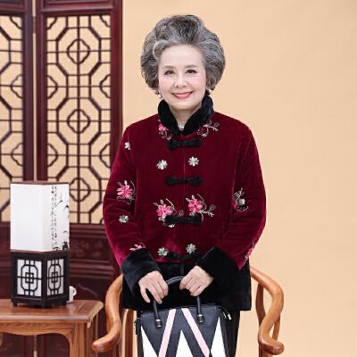 20180329044634313中老年人女装冬装棉衣服老人妈妈装加厚外套太太奶奶棉袄唐装 发货周期:一般在付款后2-90天左右发货,具体发货时间请以与客服协商的时间为准