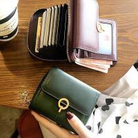 真皮折叠小巧钱包女短款精致高档小款卡包一体多功能2020新款