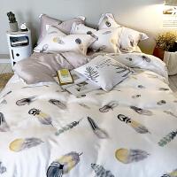 夏季纯天丝四件套1.5/1.8m床单被套冰丝双人床上用品夏凉丝滑裸睡