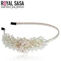 皇家莎莎Royalsasa发饰品 韩国头饰 人造水晶串珠细发箍 时尚头箍花朵发卡